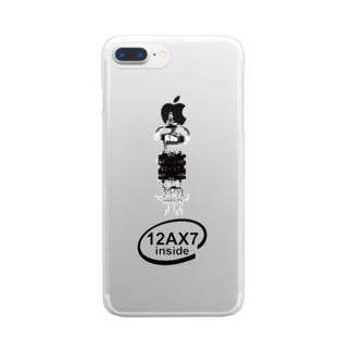 173H Designの真空管12AX7黒 Clear smartphone cases