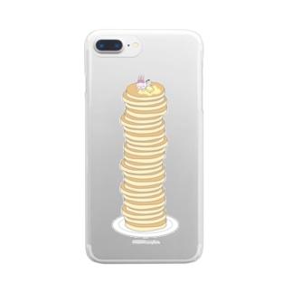 パンケーキも超すきなの Clear smartphone cases
