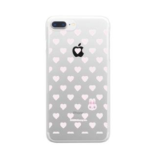 ハート柄かくれんぼ Clear smartphone cases