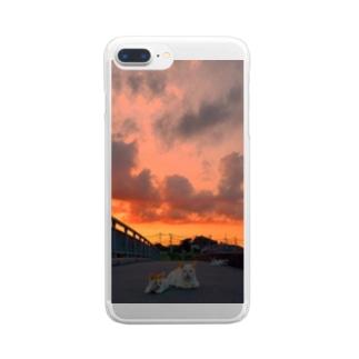 ねこです Clear smartphone cases