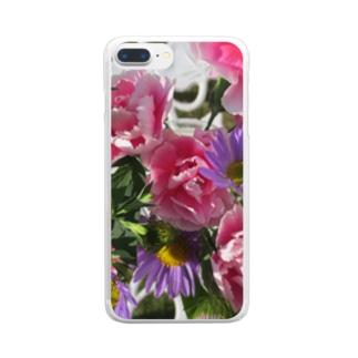 お花の気持ち Clear smartphone cases