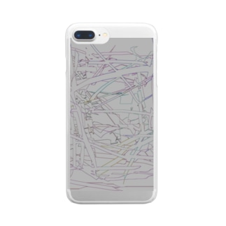水草の漫画調2 Clear smartphone cases