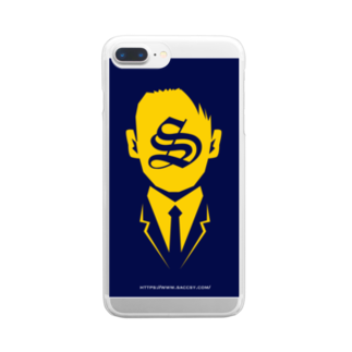 SACCSY SHOPのSACCSY_スマホケース Clear smartphone cases