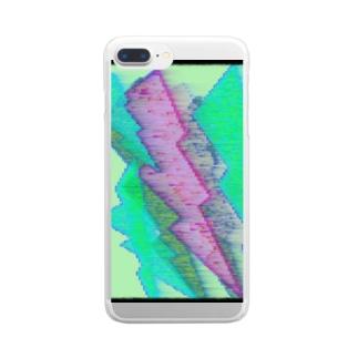水草の雷4 Clear smartphone cases