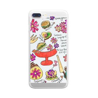 コスモスブレッド Clear smartphone cases