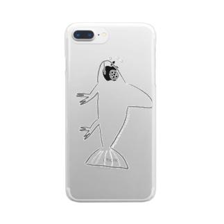 ニセエボシカメレオンダマシ#2 カメレオンフィッシュ(縦) Clear smartphone cases