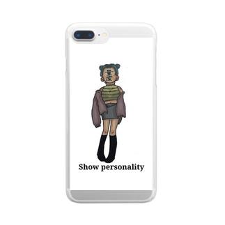 量産品女 Clear smartphone cases