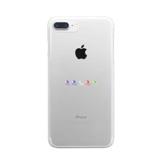 ローラースケート Clear smartphone cases