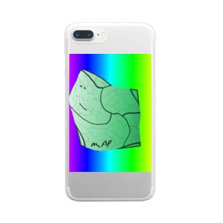 MAPたん3 Clear smartphone cases