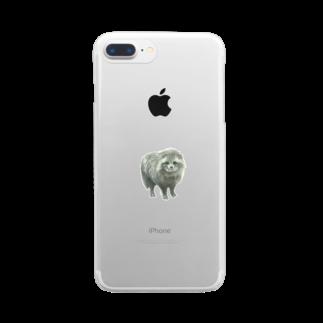 しみずゆま のやまのたぬき Clear smartphone cases