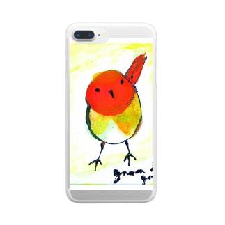 gama da gamaのこまどり Clear smartphone cases