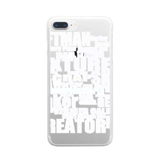 Iron.Wood.Shaperのブランドユニホーム Clear smartphone cases