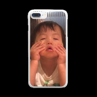 そちゃんのらぶくーちゃん Clear smartphone cases