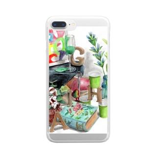 techonのHAGI隠れ Clear smartphone cases