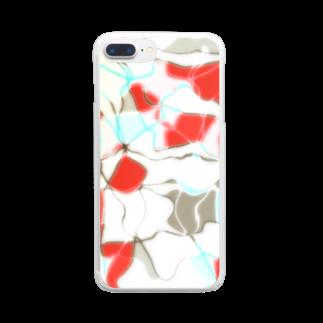 水草の金魚2 Clear smartphone cases