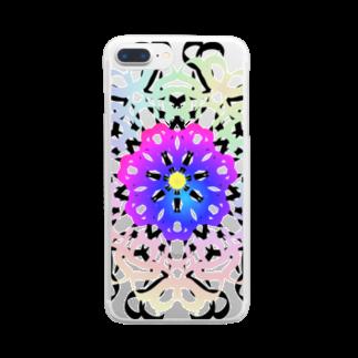 @chu_Dのカラフル ブーケ Clear smartphone cases