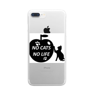乃舞のNO CATS NO LIFE Clear smartphone cases