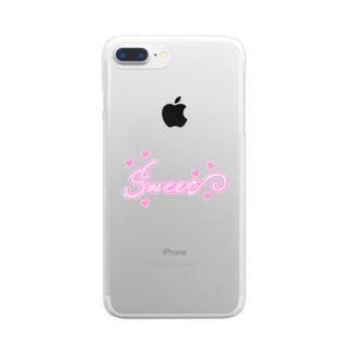 mero46のsweet Clear smartphone cases