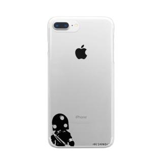 人造人間イレシンダー(英字ロゴ版) Clear smartphone cases