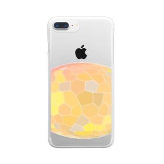 水草のオレンジ玉 Clear smartphone cases