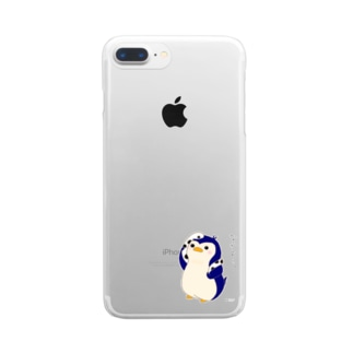 ペンギンとチンアナゴ Clear smartphone cases