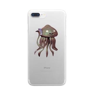 エイリアン通話中 Clear smartphone cases