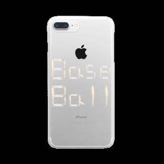 kyonophotoのバットとボールで描いた「BaseBall」 Clear smartphone cases