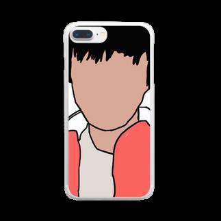 影の影山のグッズ Clear smartphone cases