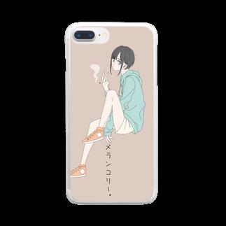 クロレのメランコリー Clear smartphone cases