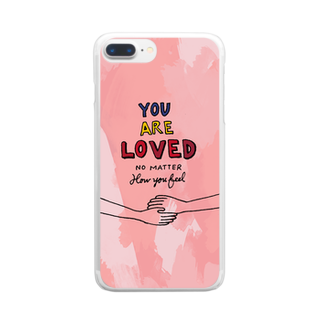 HÖGBRONのYou are loved.. Clear smartphone cases