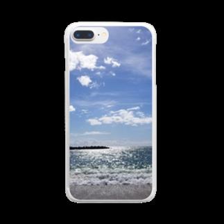 min☺︎︎のlove…sea Clear smartphone cases