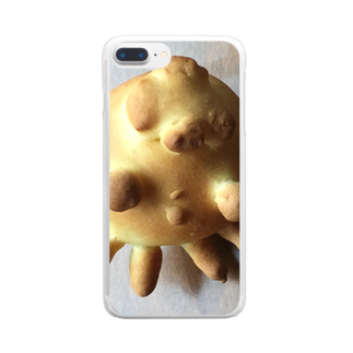 シェイモのクラゲちゃんパン Clear smartphone cases