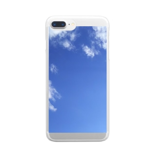 Maronnneko's Store のMaronnneko Bleu Sky Phone Case Clear smartphone cases