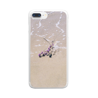 chihomilinのFlower series Clear smartphone cases