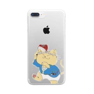踊り猫 Clear smartphone cases