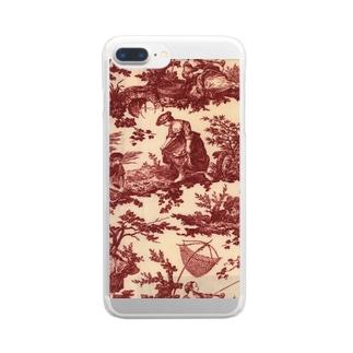 J. Jeffery Print Galleryのトワルドジュイ Toile de Jouy Clear smartphone cases