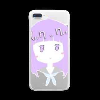 (,,π . π,,)の(,,η v η,,)Miwa Kurumi Clear smartphone cases