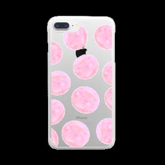 水草のピンク玉いっぱい Clear smartphone cases