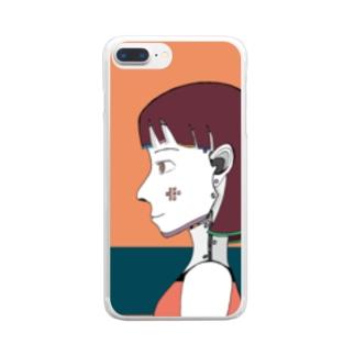 サイボーグ Clear smartphone cases