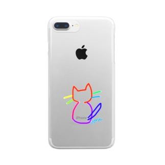 なないろ nya! Clear smartphone cases