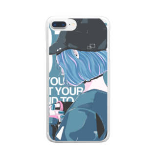 homareのキャップgirl Clear smartphone cases