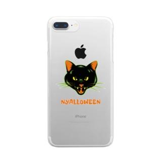 gemgemshopのニャロウィン Clear smartphone cases