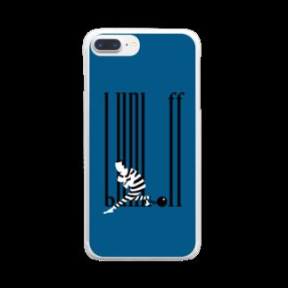 カイカイの出店のバックレ王 Clear smartphone cases