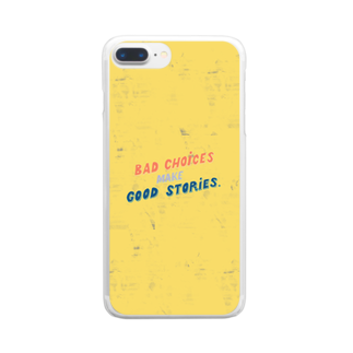 HÖGBRONのBad choices make Good stories Clear smartphone cases