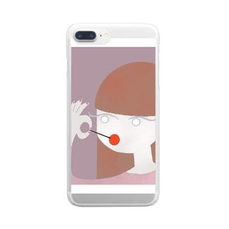 monacoocの女の子 Clear smartphone cases