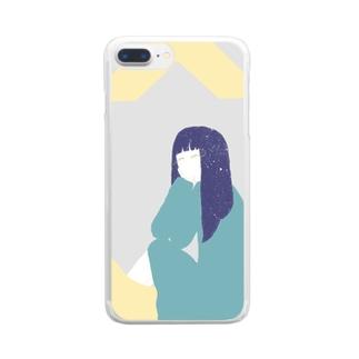 女の子 Clear smartphone cases