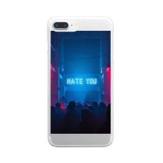 Hate you Clear smartphone cases