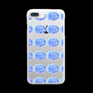 水草のスーパーブルー玉 Clear smartphone cases