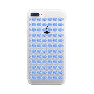 水草のハイパーブルー玉 Clear smartphone cases