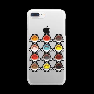 hiromu.のドット・ジョー(カラフルver.) Clear smartphone cases